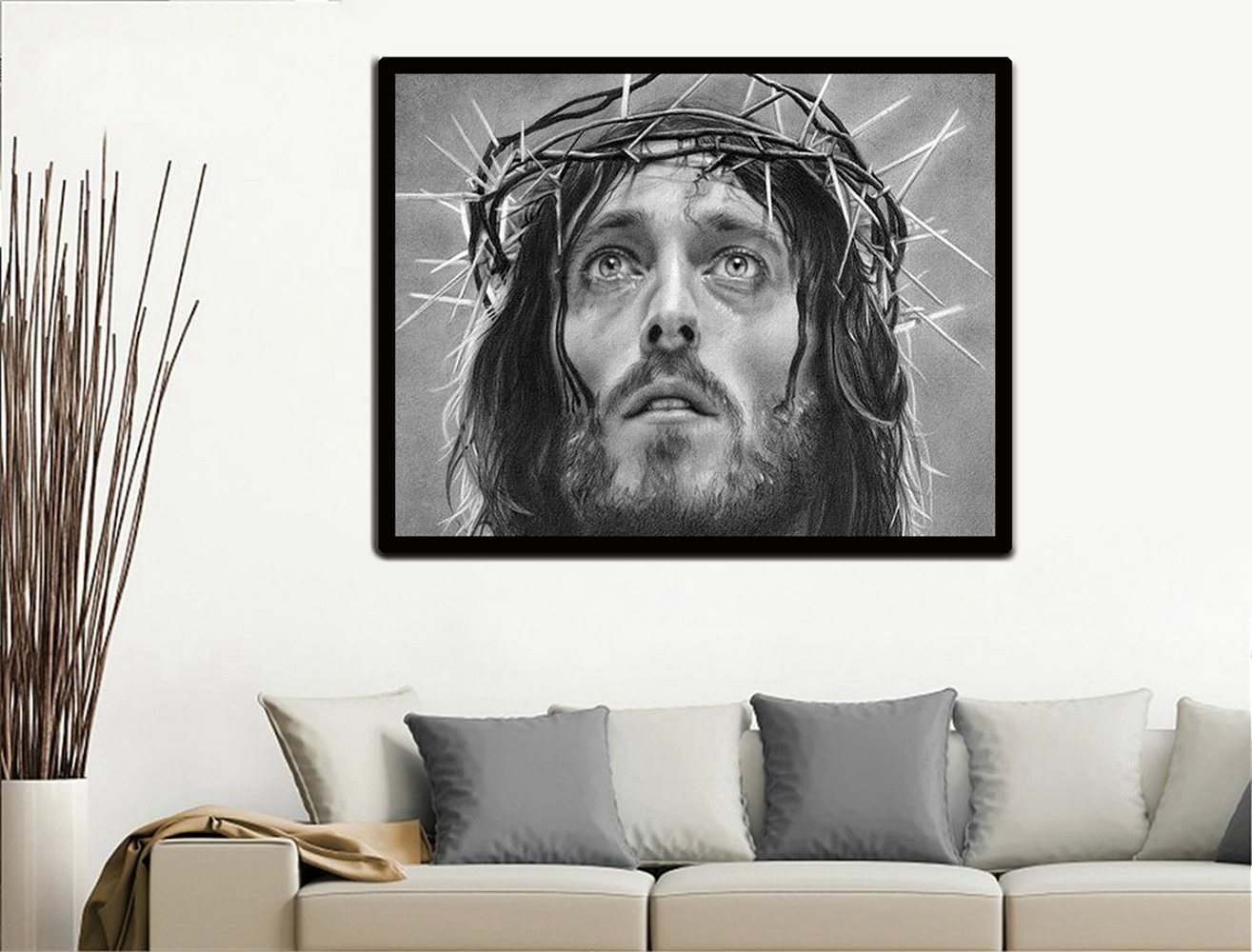 Christmas Gift Wall Art Painting Jesus Prints On Canvas Painting Pertaining To Most Recently Released Ku Canvas Wall Art (View 8 of 15)