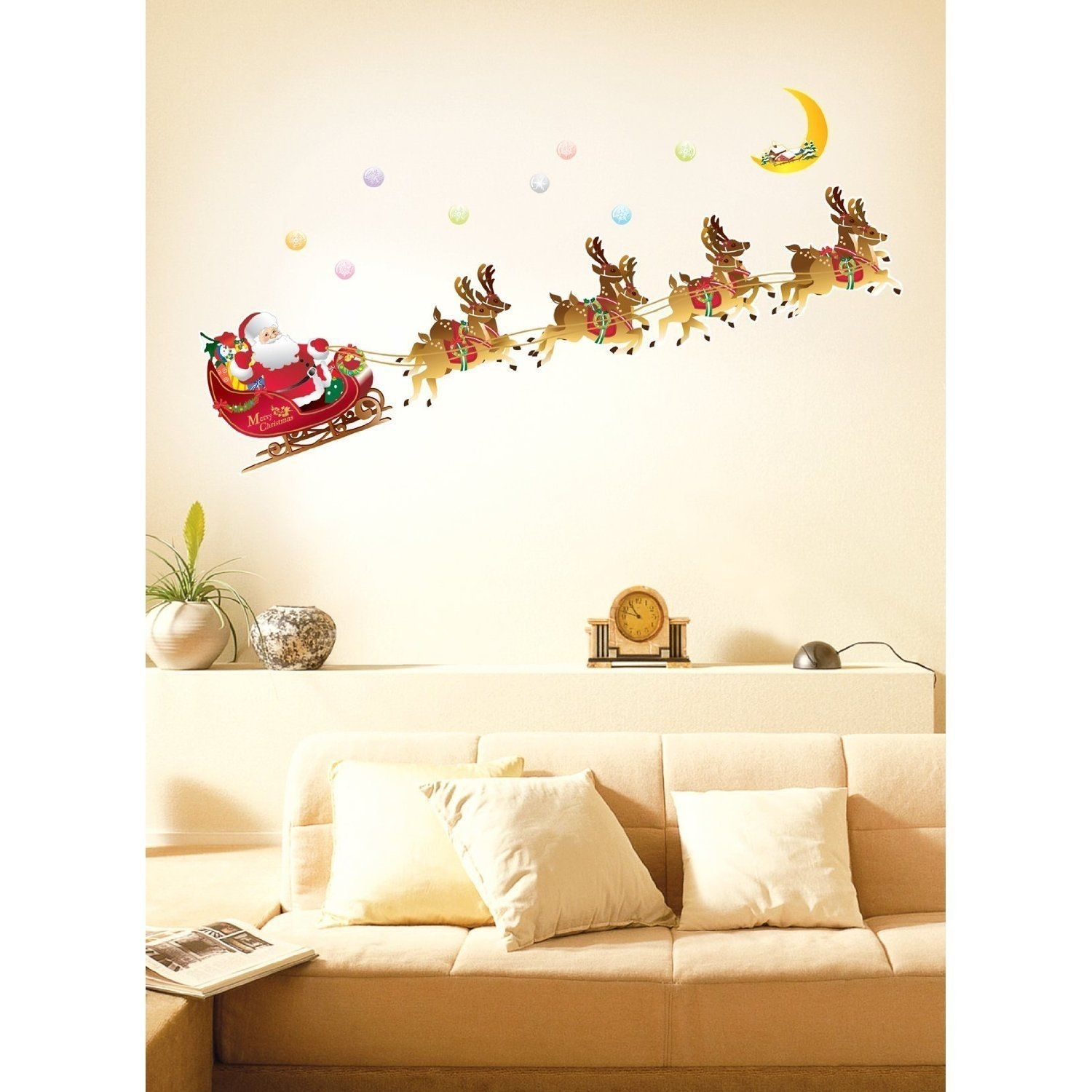Christmas Special – Décor Ideas For Your Home | Christmas Wall With 2018 Wall Accents Stickers (View 6 of 15)