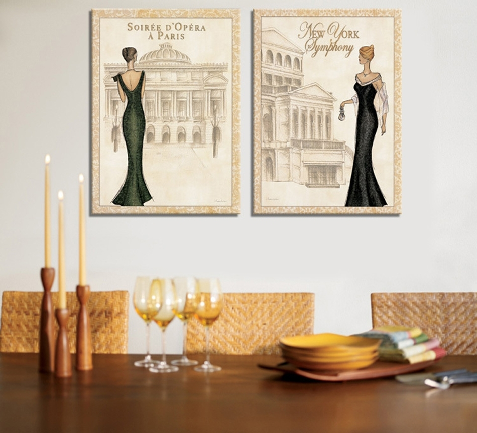 City Building Scenery Canvas Print Painting Home Decorations Wall Within Most Recent Canvas Wall Art Of Paris (View 5 of 15)