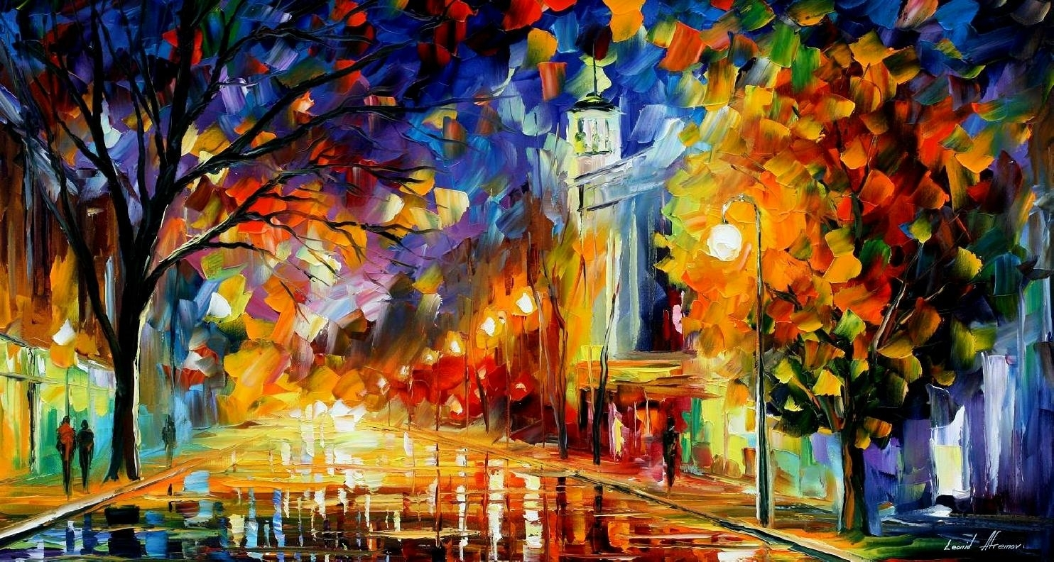 City Of Joy – Palette Knife Oil Painting On Canvasleonid With Regard To Most Up To Date Joy Canvas Wall Art (View 5 of 15)