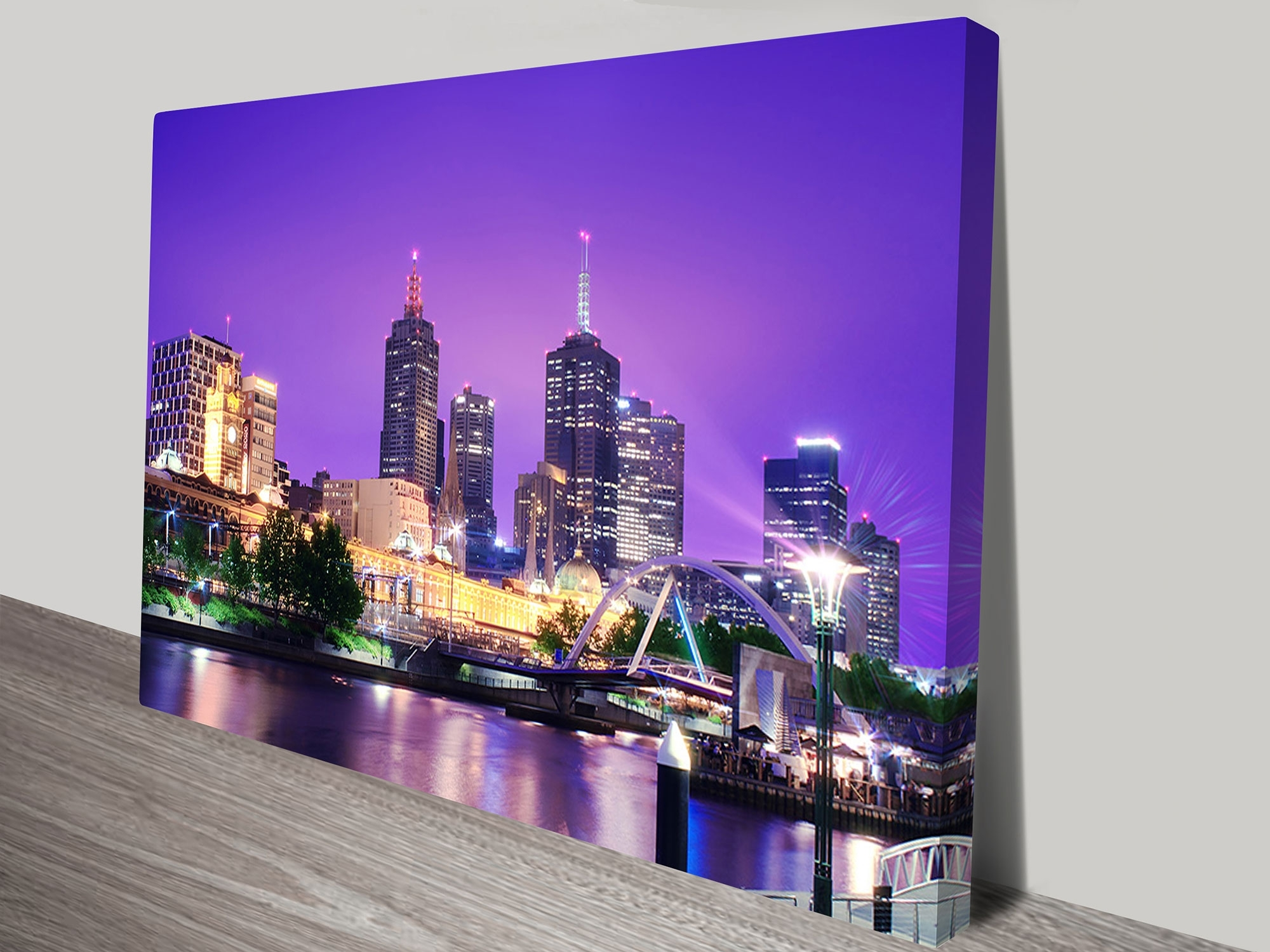 Cityscape Artwork On Canvas Throughout Latest Canvas Wall Art In Melbourne (View 13 of 15)