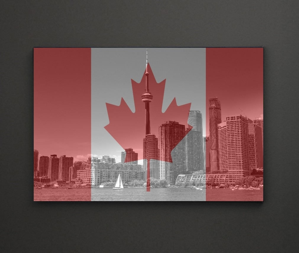Cn Tower Canada Flag A4 Framed/box Canvas A4 A3 A2 A1 Gift Ideas Intended For Most Up To Date Leadgate Canvas Wall Art (View 6 of 15)