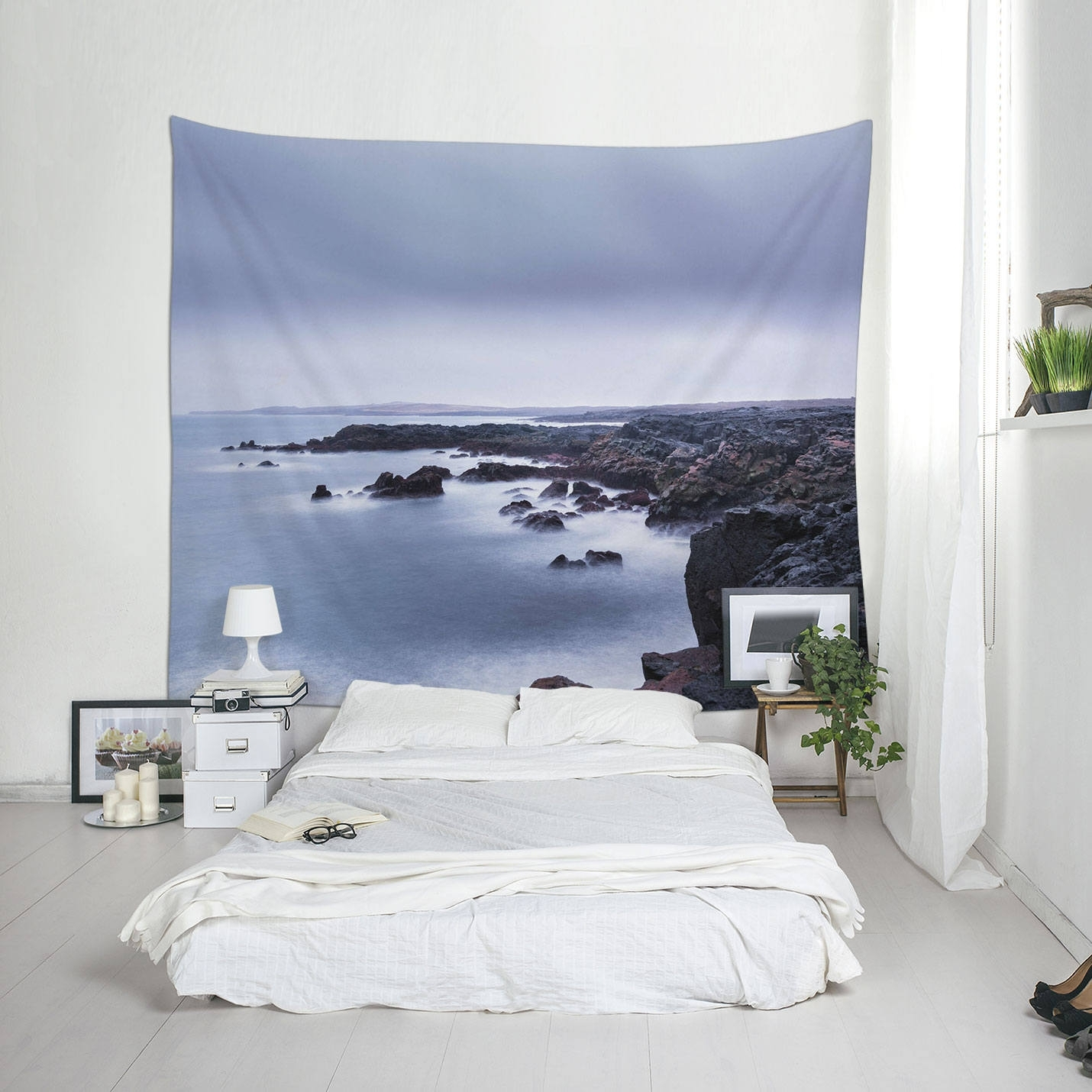 Coastal Tapestry, Iceland Coast, Landscape Wall Art, Fabric Pertaining To Recent Outdoor Fabric Wall Art (View 8 of 15)