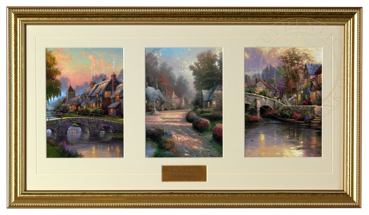 Cobblestone Collection – Framed Matted Prints (Gold Frame) | The With Regard To Recent Framed And Matted Art Prints (View 5 of 15)