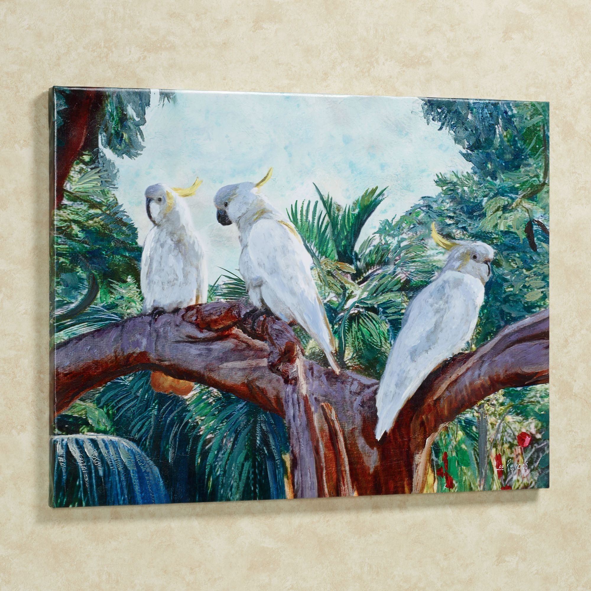 Cockatrio Cockatoo Birds Canvas Wall Art In Most Recent Birds Canvas Wall Art (View 5 of 15)