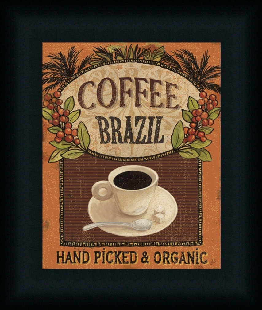 Coffee Blend Label Ivdaphne Brissonnet – Art Print Framed With Most Popular Framed Coffee Art Prints (View 9 of 15)