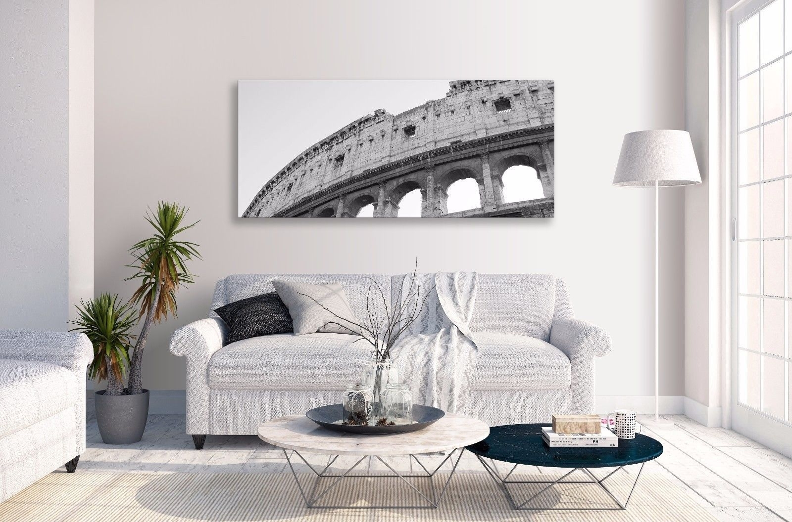 Colosseum Rome Abstract Architecture Grey Panorama Canvas Wall Art In 2018 Canvas Wall Art Of Rome (View 7 of 15)
