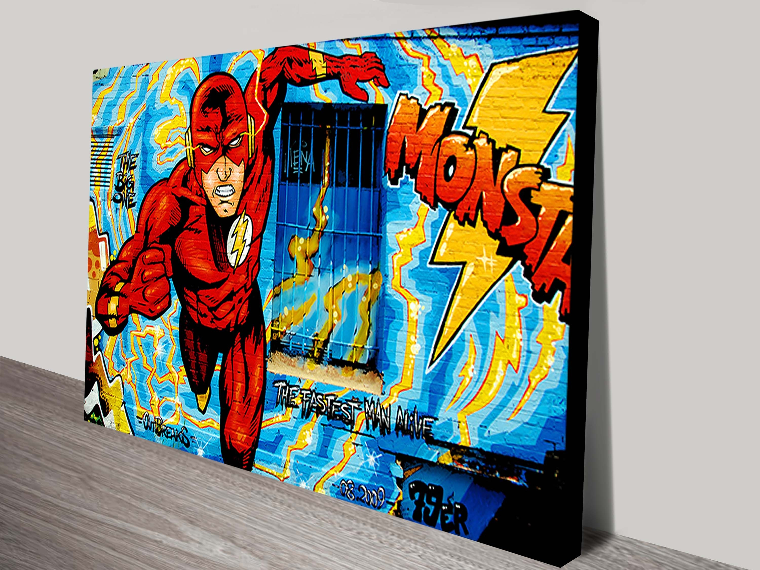 Comic Book Graffiti Wall Art Prints | Street Art With Current Marvel Canvas Wall Art (View 7 of 15)