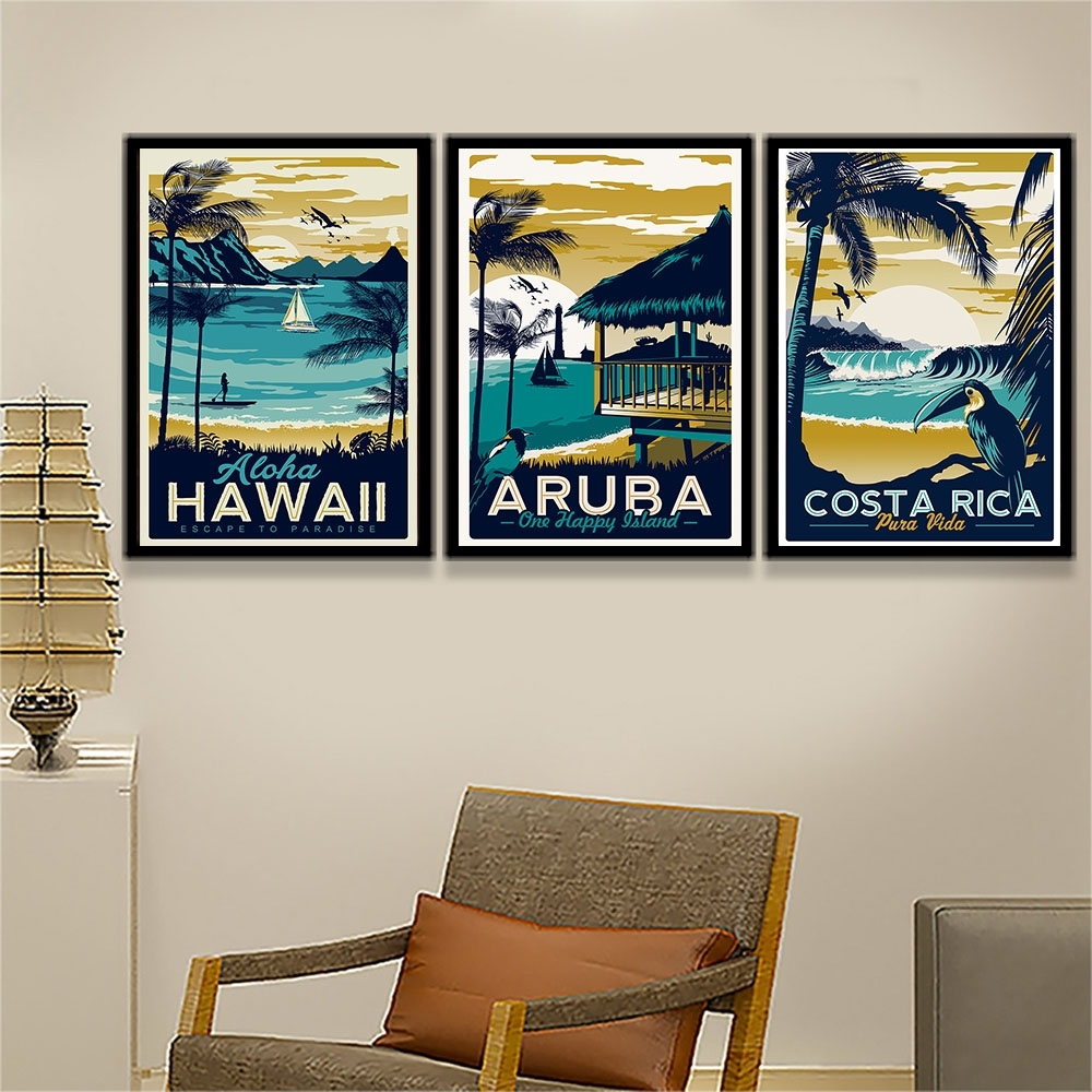Compare Prices On Hawaii Canvas Online Shopping/buy Low Price Regarding 2018 Hawaii Canvas Wall Art (View 13 of 15)