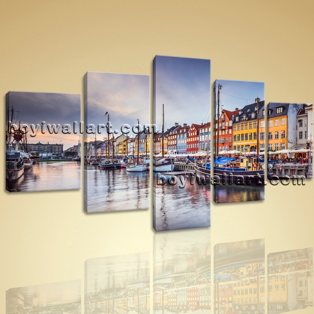Contemporary Canvas Wall Art Print Painting Italy City Venice Hd Within Most Recently Released Canvas Wall Art Of Italy (View 7 of 15)