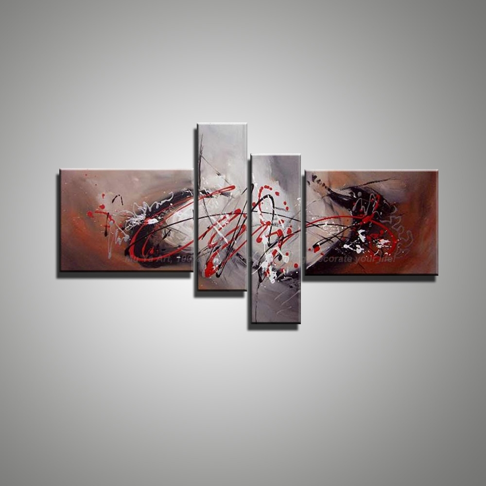 Contemporary Modern Canvas Wall Art Large Hand Painted Decorative With Most Recent Murals Canvas Wall Art (View 6 of 15)