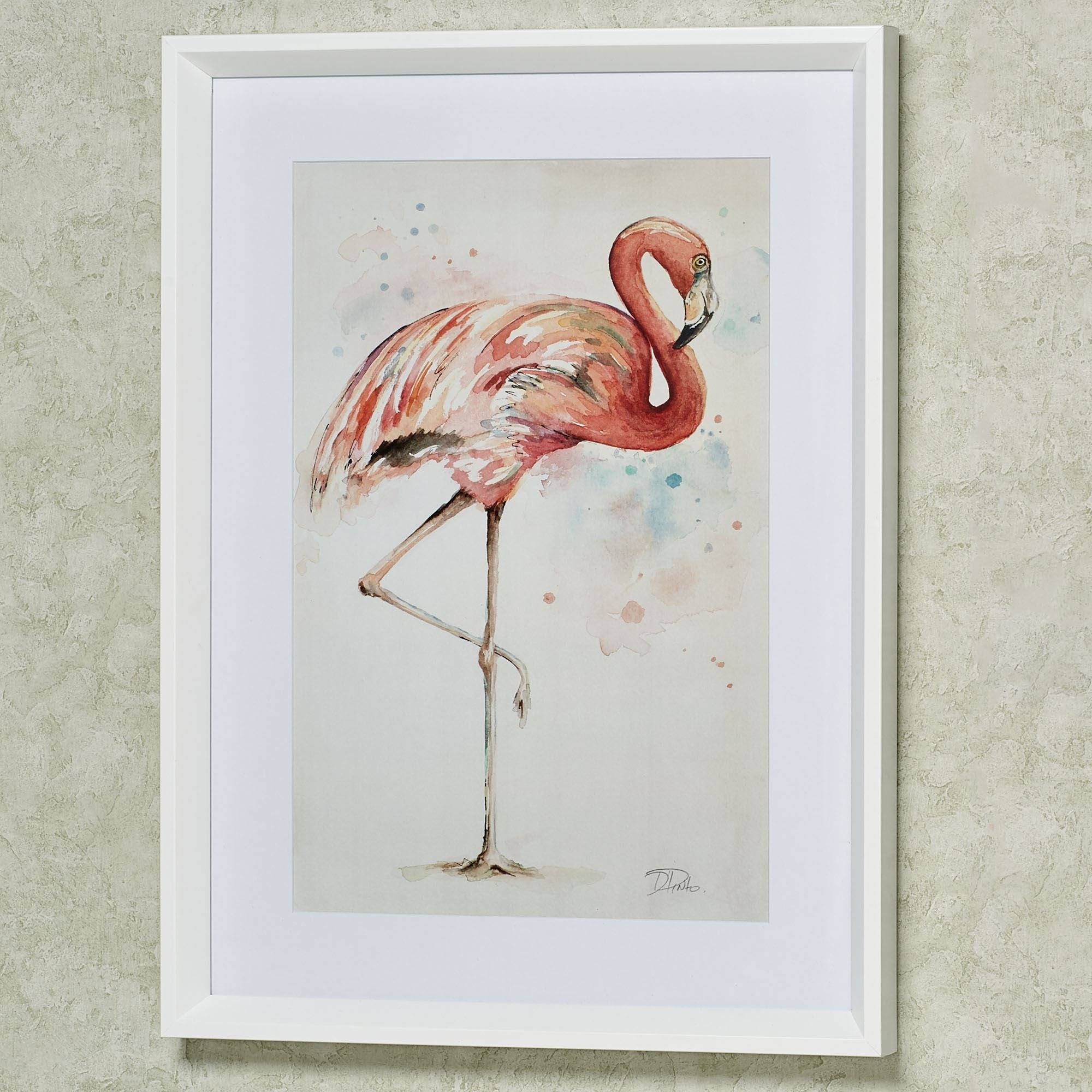 Coral Pink Flamingo Framed Print Wall Art Intended For Most Popular Framed Coral Art Prints (View 10 of 15)