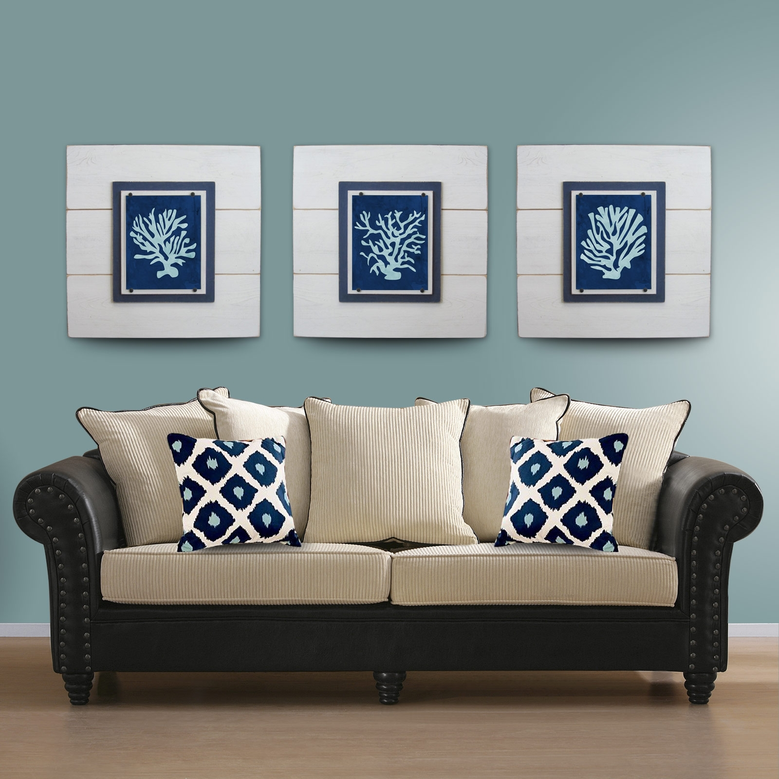 Coral Wall Art – Set Of 2 Driftwood Frames  Project Cottage Inside Most Popular Framed Coral Art Prints (View 4 of 15)