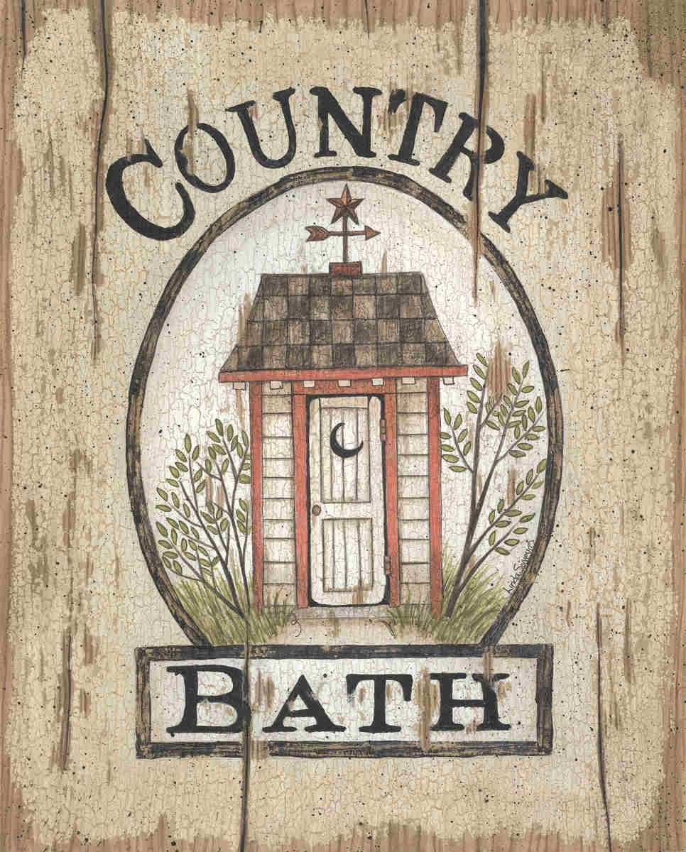 Country Bath Outhouselinda Spivey – Art Print Framed Intended For Most Popular Framed Country Art Prints (Gallery 10 of 15)