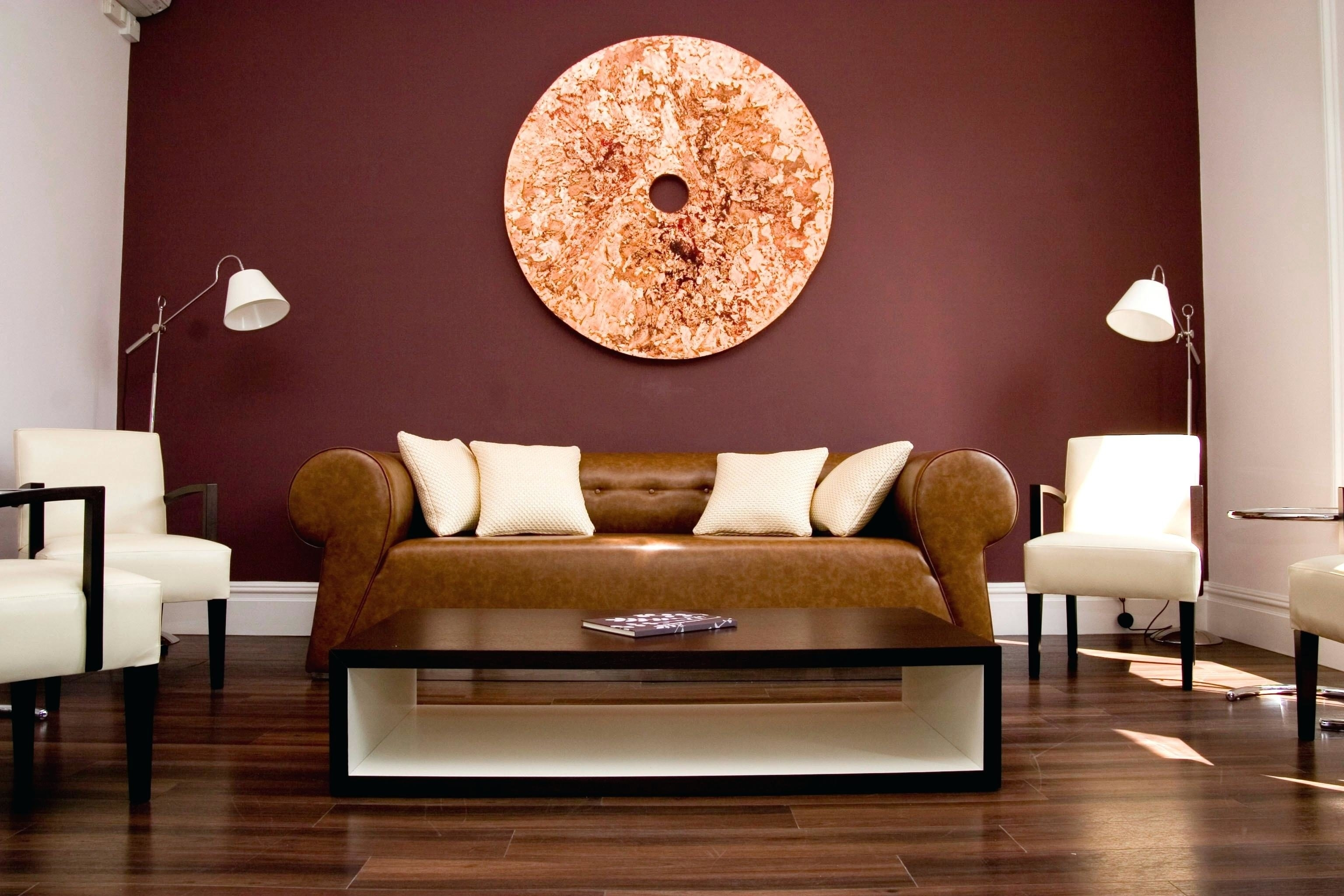 Cozy Living Room With Smart Paint Color Matches Maroon Accent Wall Inside Most Recent Maroon Wall Accents (View 4 of 15)