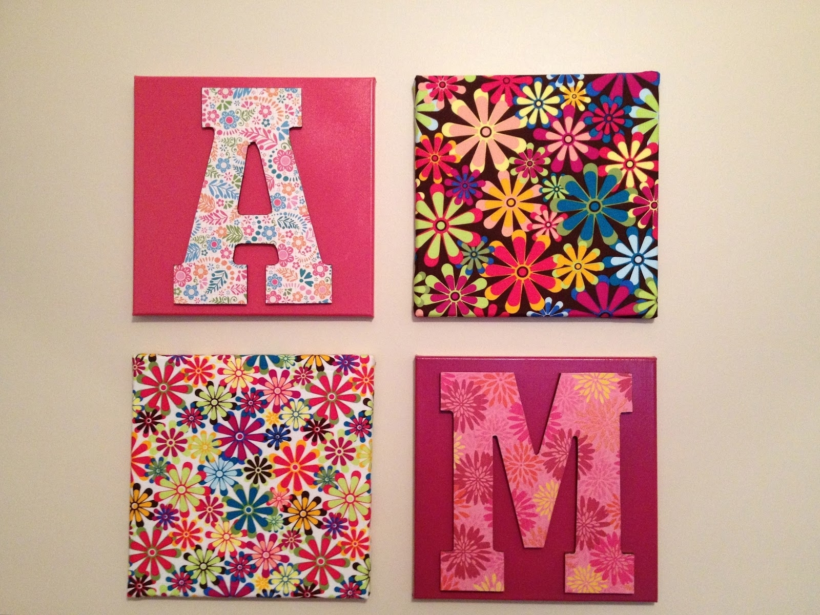 Craft Ideas For Girls | Living Unbound: Diy Easy Wall Hanging With Current Fabric Wall Art Letters (Gallery 10 of 15)