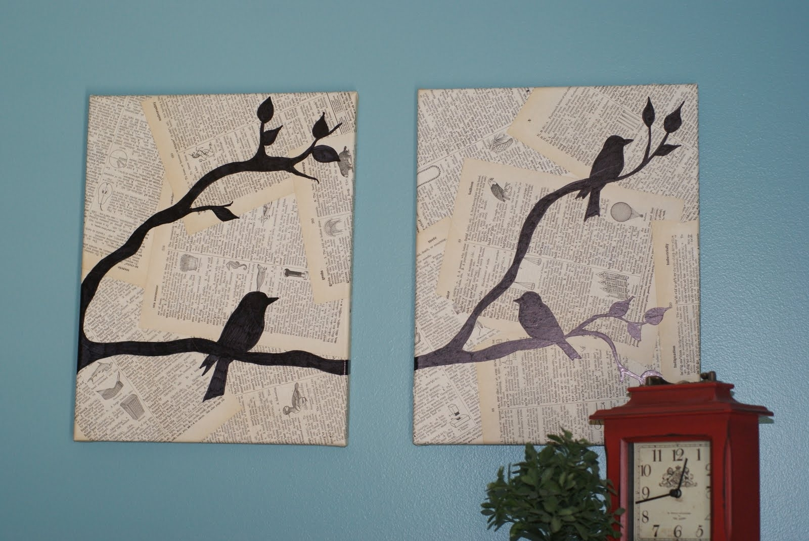 Crafting On A Budget: Diy: Bird Canvas Wall Art For Best And Newest Birds Canvas Wall Art (View 6 of 15)