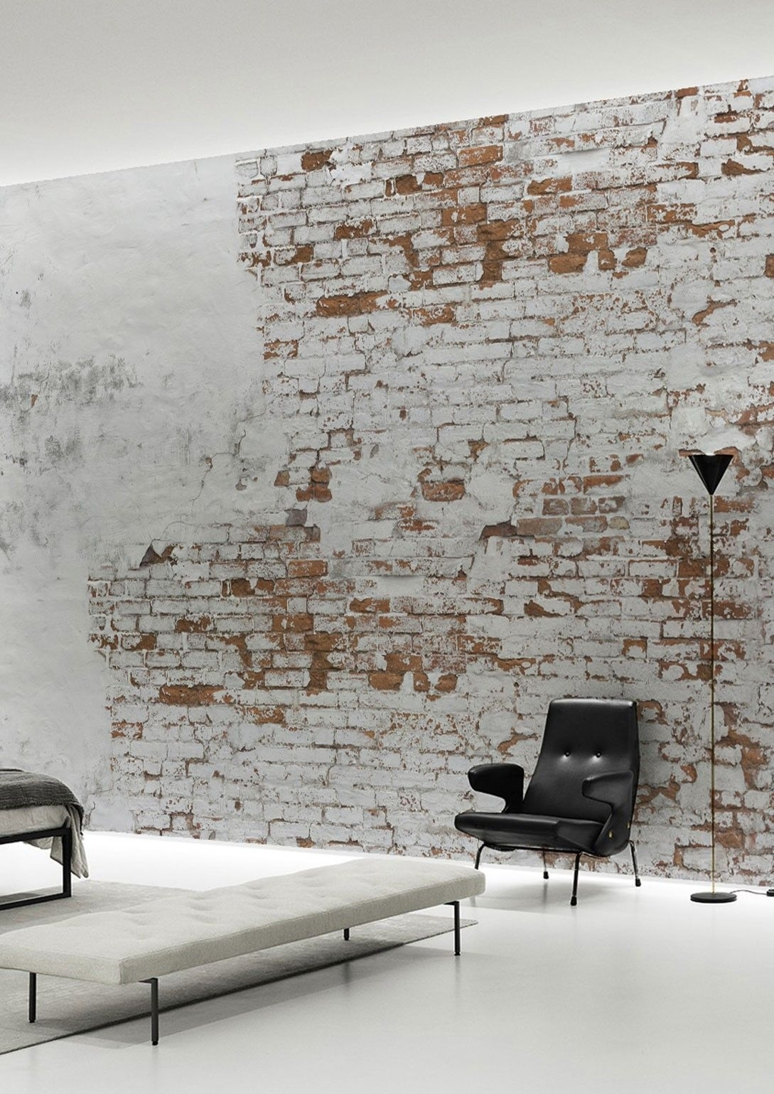 Create Your Own Industrial Wall In No Time With This Plaster Brick With Regard To Most Recently Released Wallpaper Wall Accents (View 9 of 15)