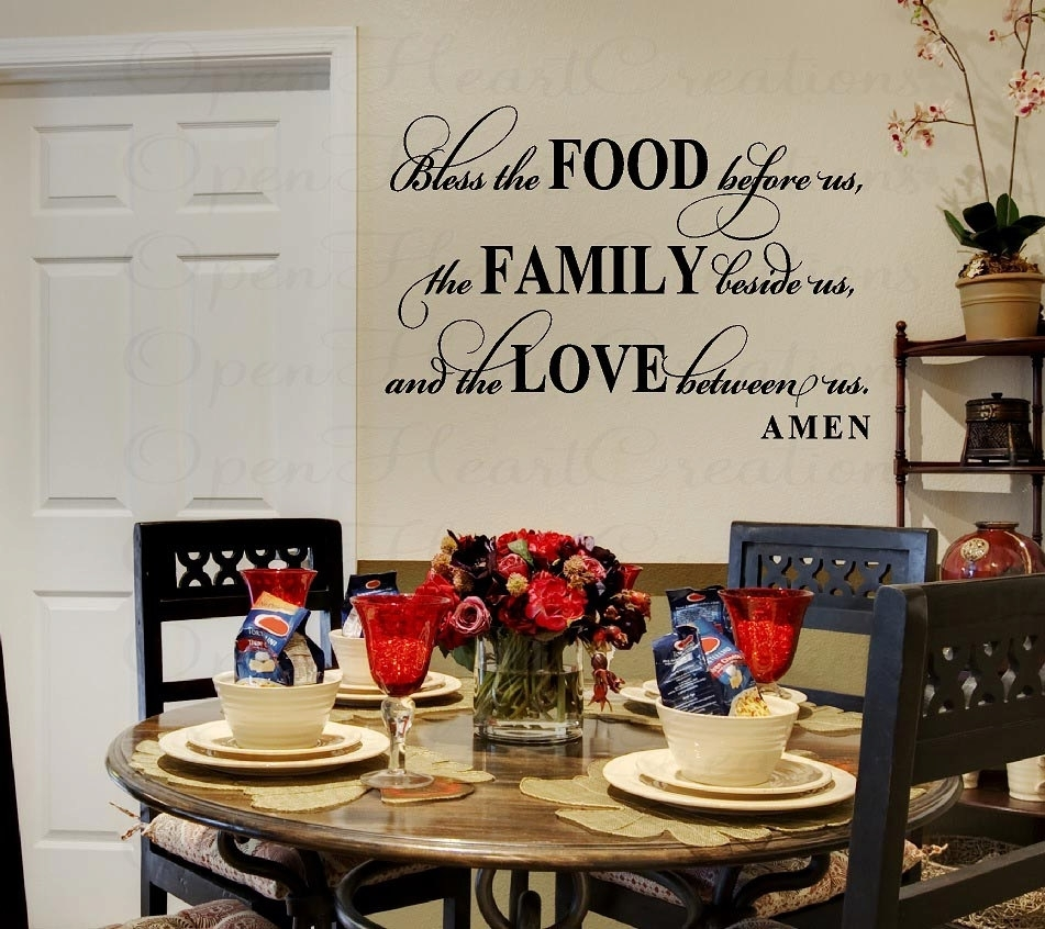 Creative Dining Room Wall Decor | Itsbodega | Home Design Tips Pertaining To Latest Wall Accents For Dining Room (View 5 of 15)