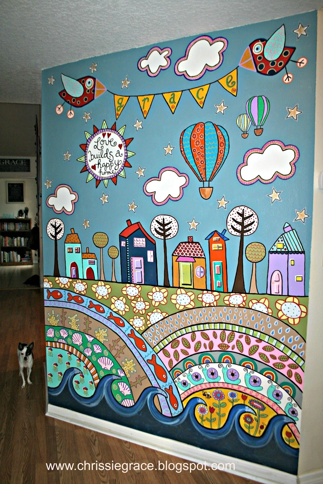 Creatively Content: Scarp Fabric Curtain + Giveaway Winner | Art With Latest Childrens Fabric Wall Art (View 4 of 15)