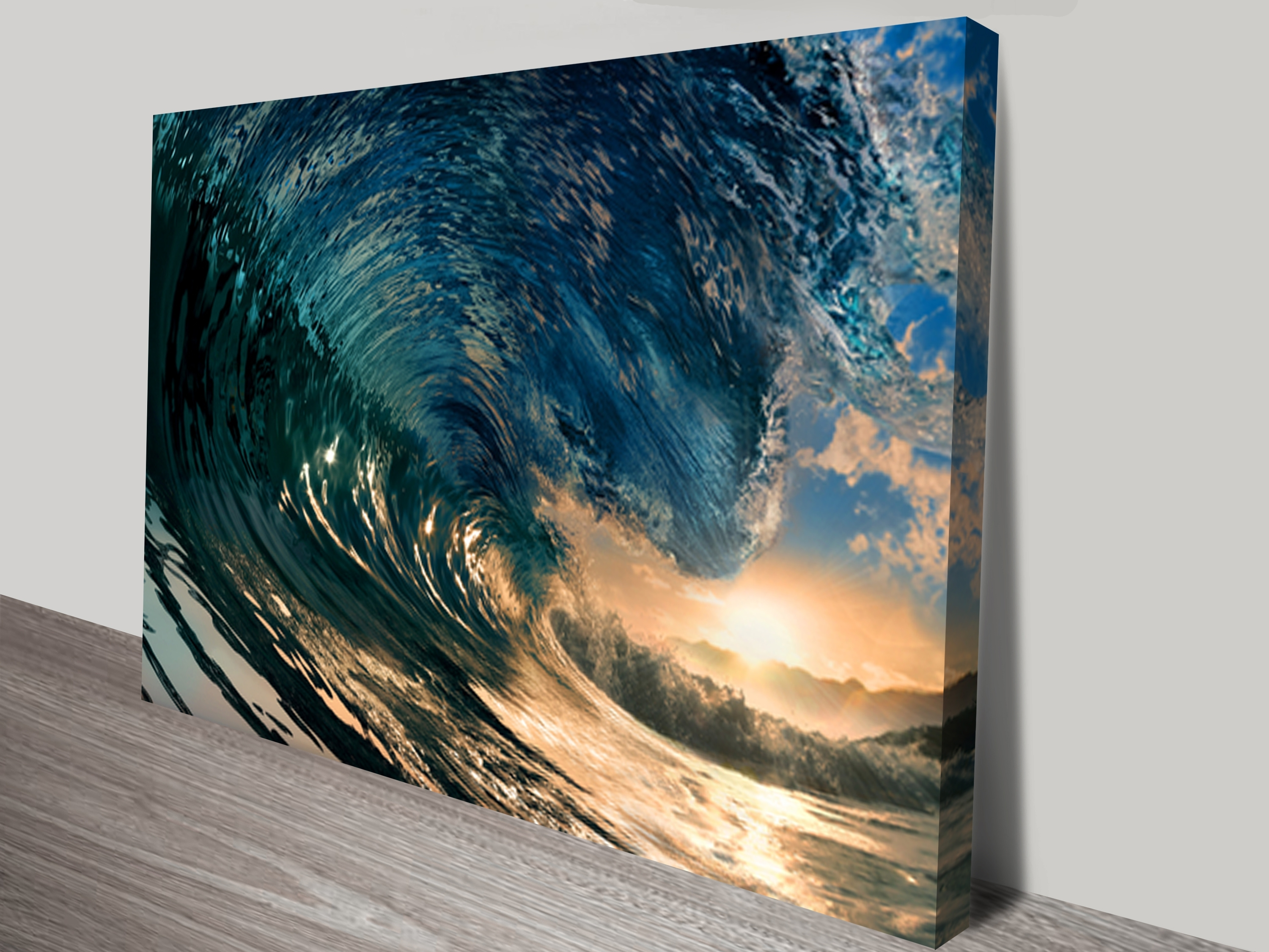 Crystal Waves Surfing Art Canvas Print | Sunset Wave Wall Art With Latest Canvas Wall Art In Melbourne (View 8 of 15)