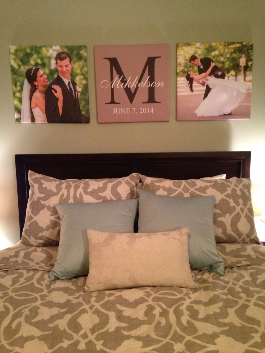 Custom Canvas Prints Of Wedding Pictures In Master Bedroom #canvas Pertaining To Most Popular Masters Canvas Wall Art (View 11 of 15)