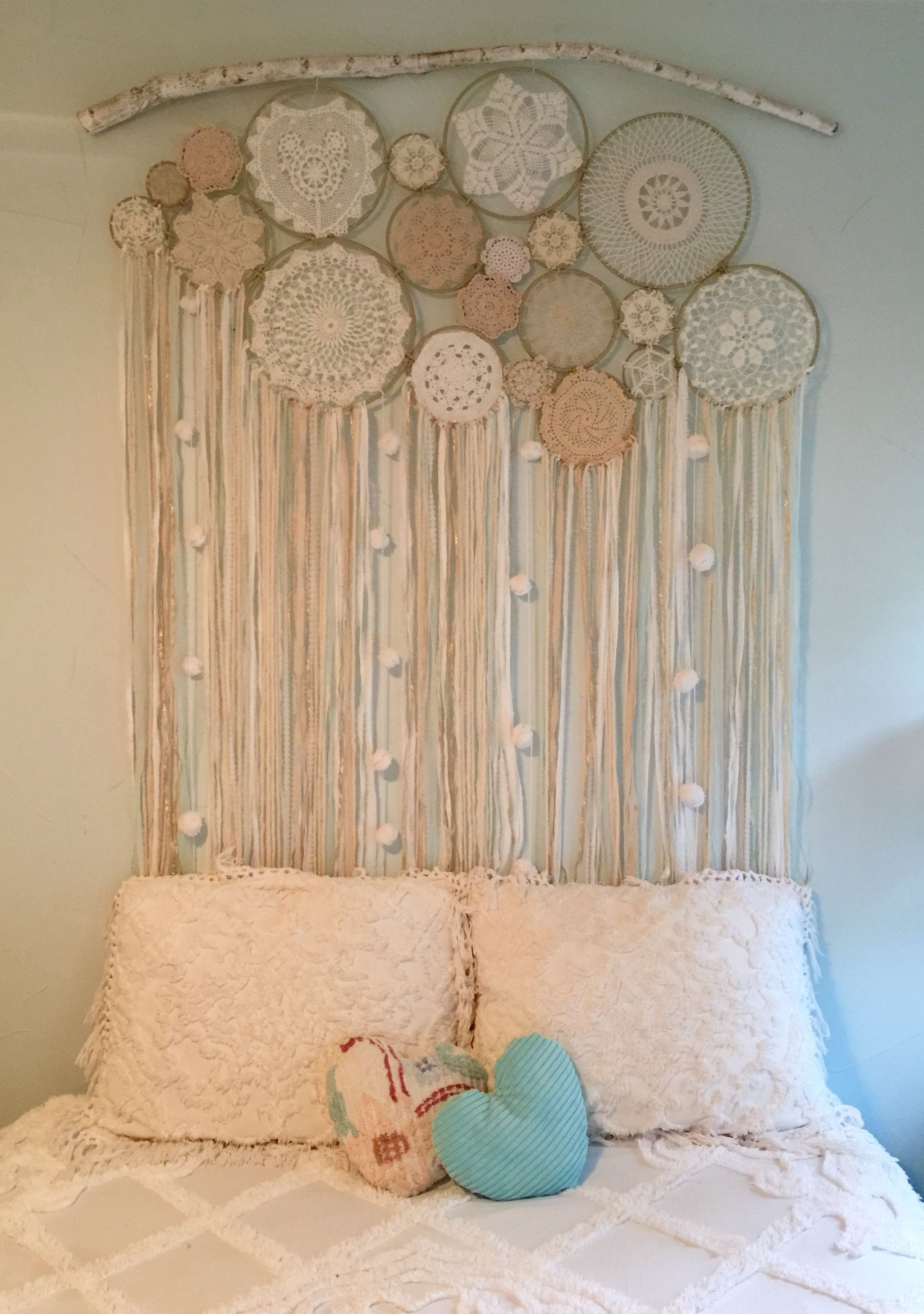 Custom Made Dreamcatcher Wall Hanging. Hand Wrapped Metal Rings Within Most Recently Released Dreamcatcher Fabric Wall Art (Gallery 4 of 15)