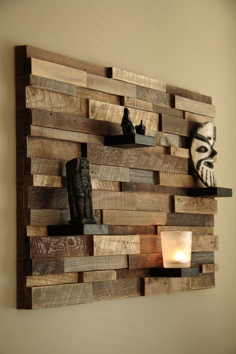 Custom Made Reclaimed Wood Wall Art Made Of Old Barn Wood – So In Most Up To Date Wall Accents Made From Pallets (View 4 of 15)