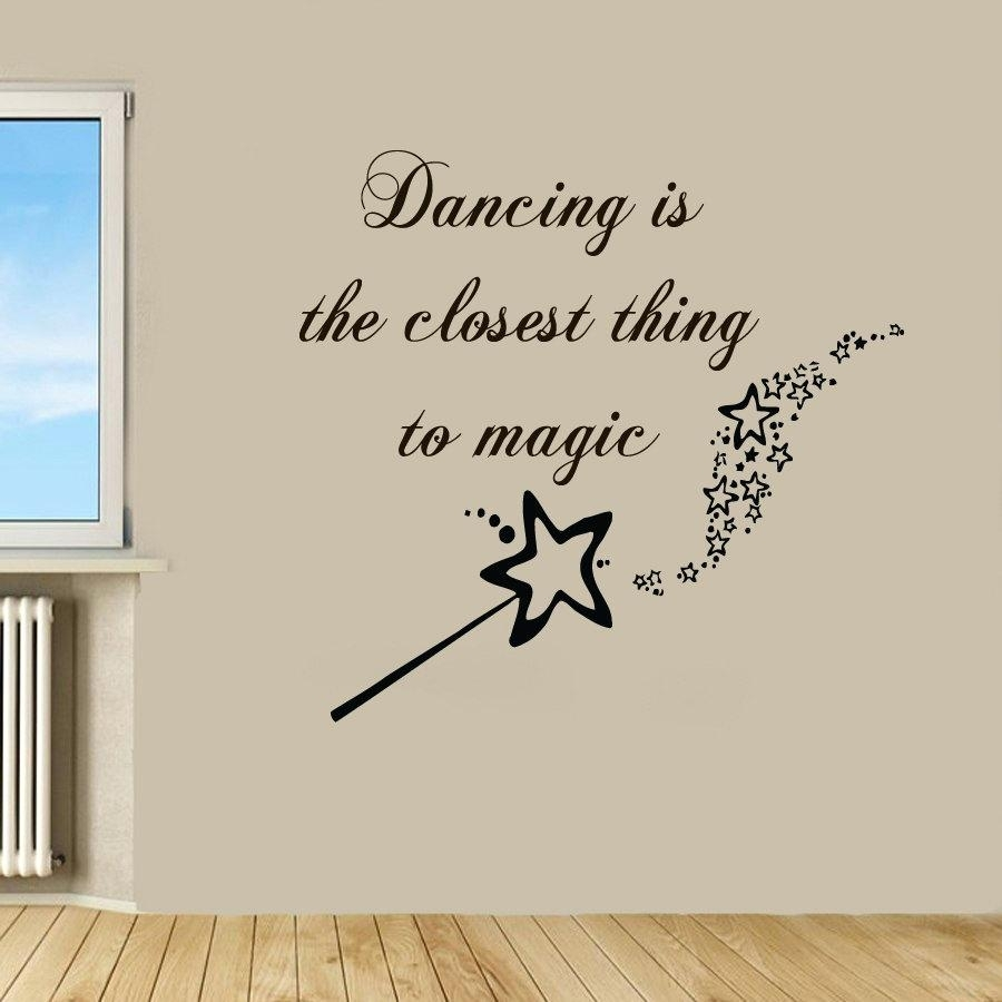 Dance Quotes Wall Decals Wall Arts Dance Quotes Canvas Wall Art in Most Up-to-Date Dance Quotes Canvas Wall Art