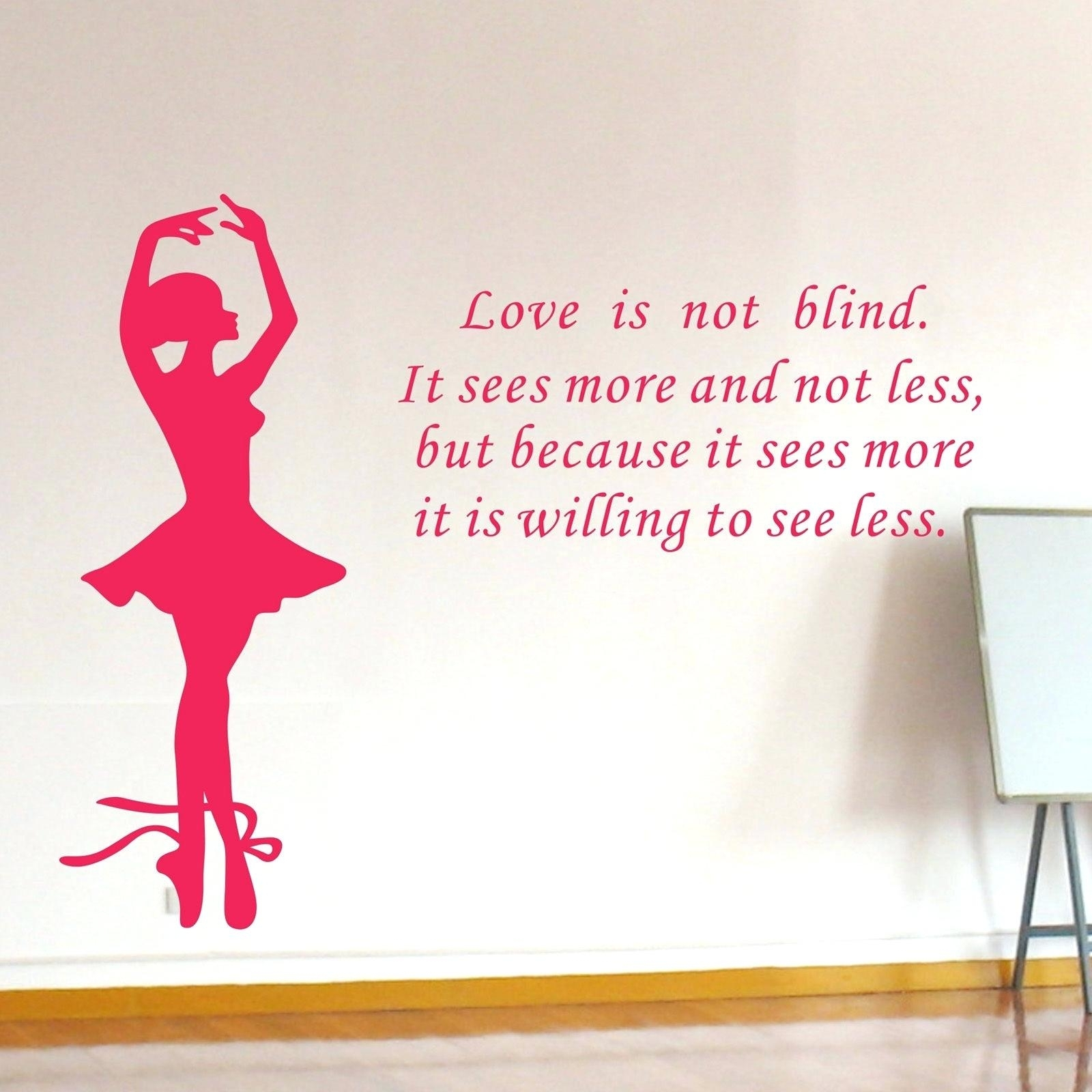 Dance Quotes Wall Decals Wall Arts Dance Quotes Canvas Wall Art Throughout Most Recently Released Dance Quotes Canvas Wall Art (View 6 of 15)