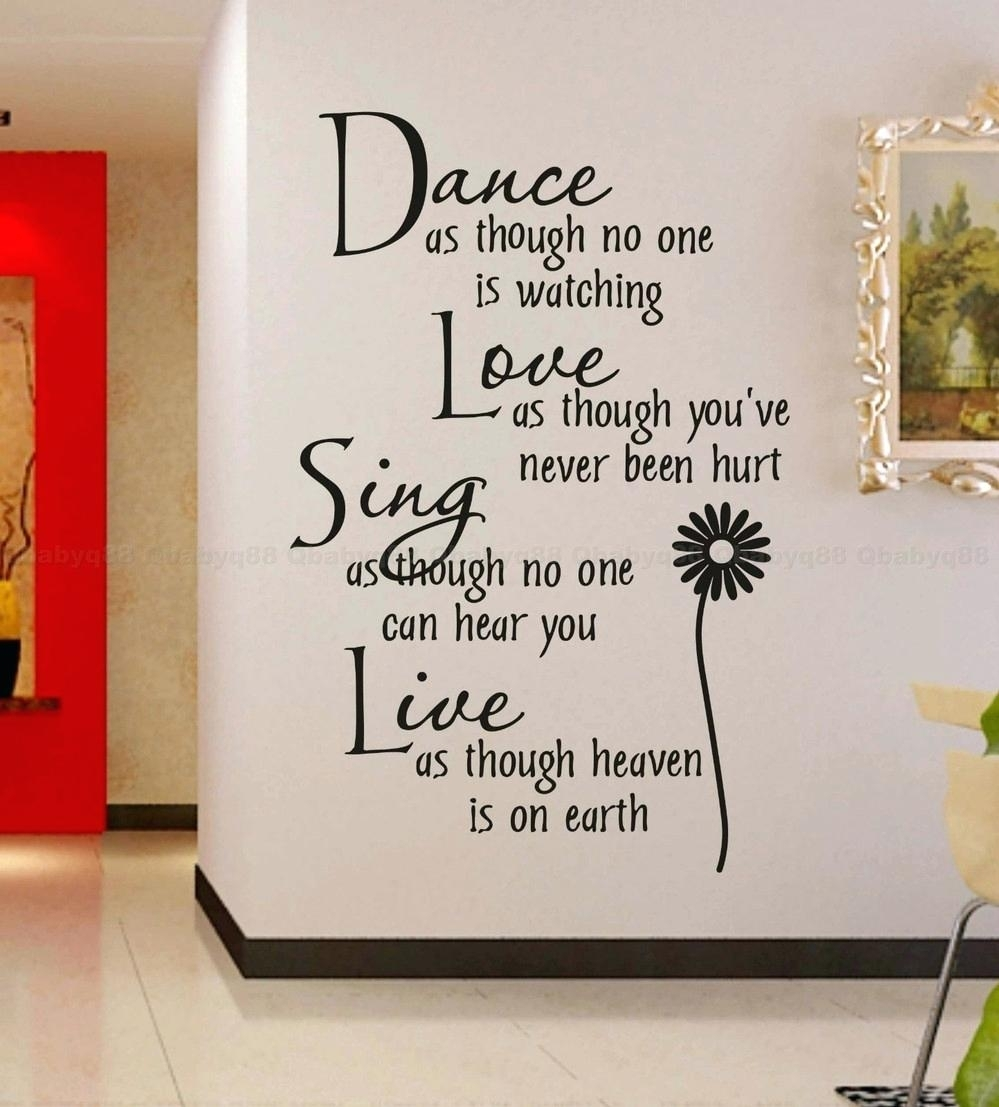 Dance Quotes Wall Decals Wall Arts Dance Quotes Canvas Wall Art within Best and Newest Dance Quotes Canvas Wall Art