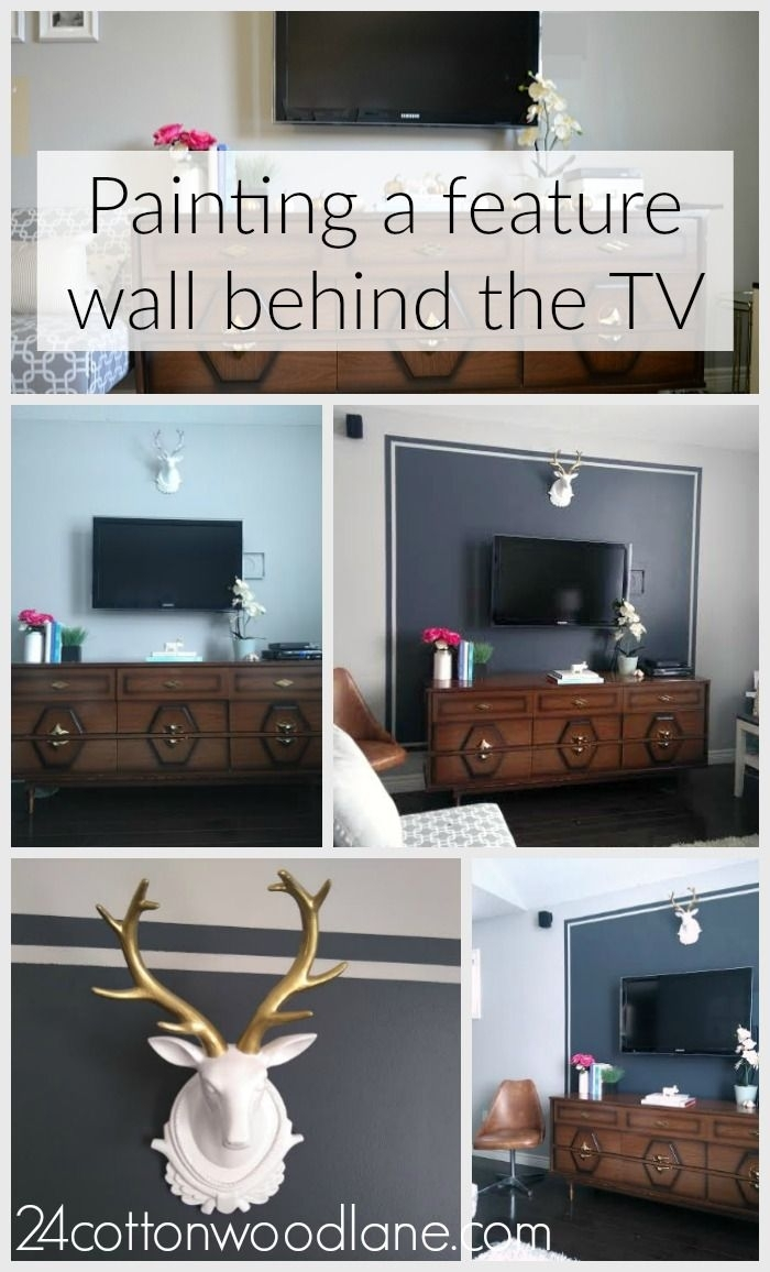 Dark Grey Tv Accent Wall | Dark Grey, Tvs And Dark Throughout Most Current Wall Accents Behind Tv (View 8 of 15)