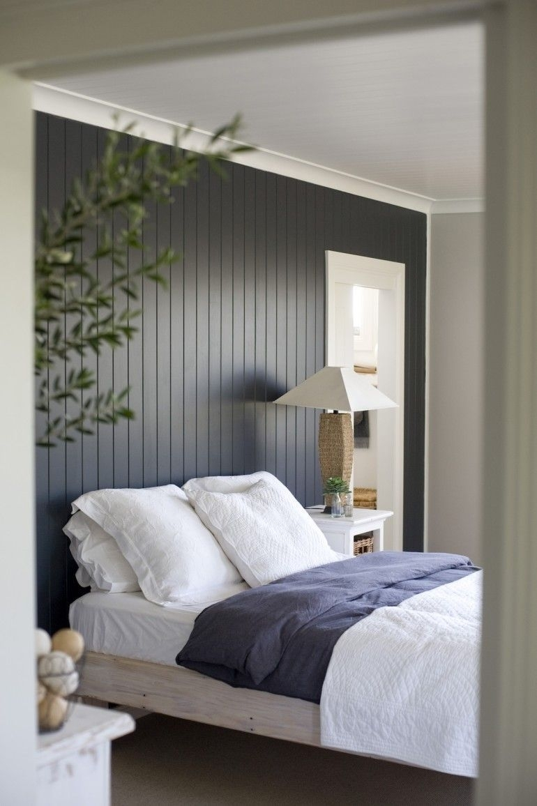 Dark Painted Wood Paneling Accent Wall | Apartment Decor Intended For Recent Wood Paneling Wall Accents (Gallery 15 of 15)
