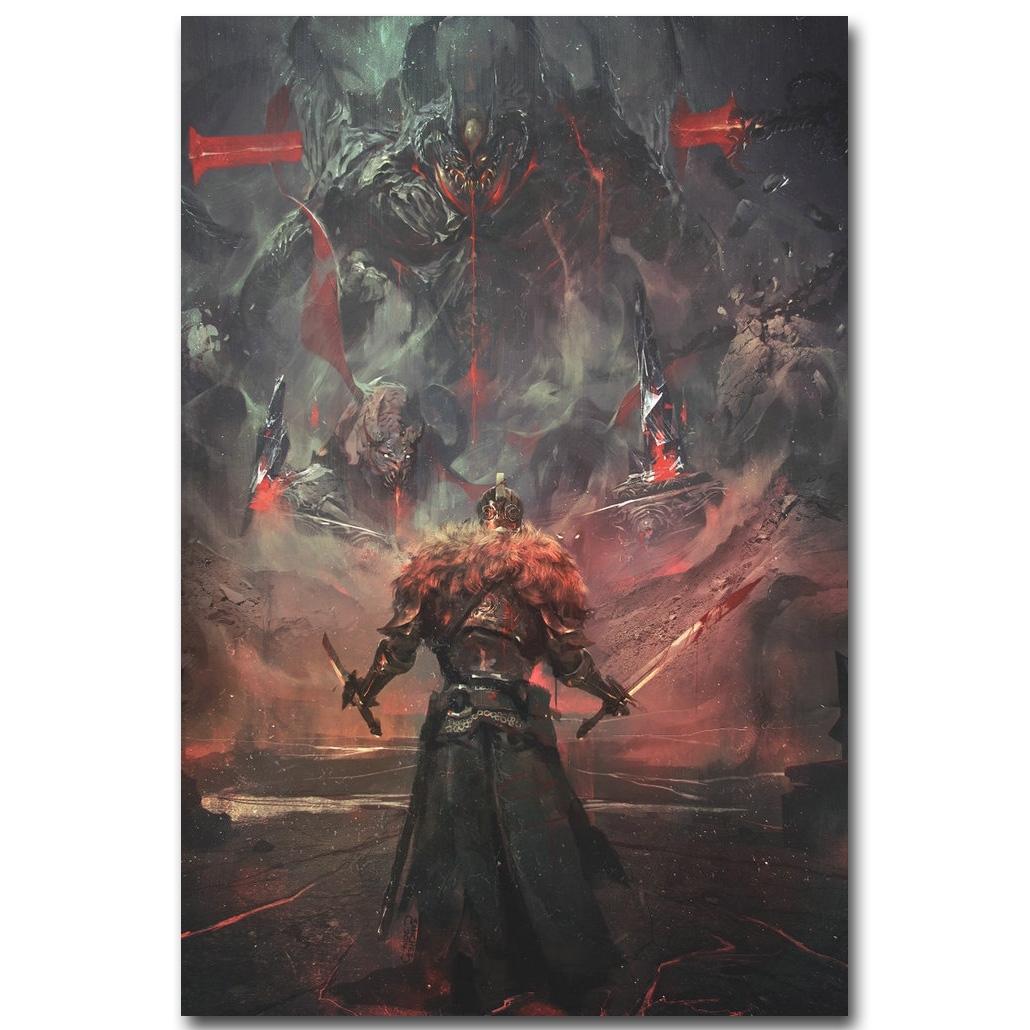 Dark Souls 3 Art Silk Fabric Poster Print 13x20 20x30inch Hot Game With 2018 Silk Fabric Wall Art (View 1 of 15)