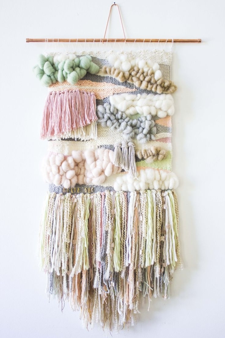 Dazzling Design Inspiration Weaving Wall Hanging – Decoration Pertaining To Latest Diy Textile Wall Art (View 6 of 15)