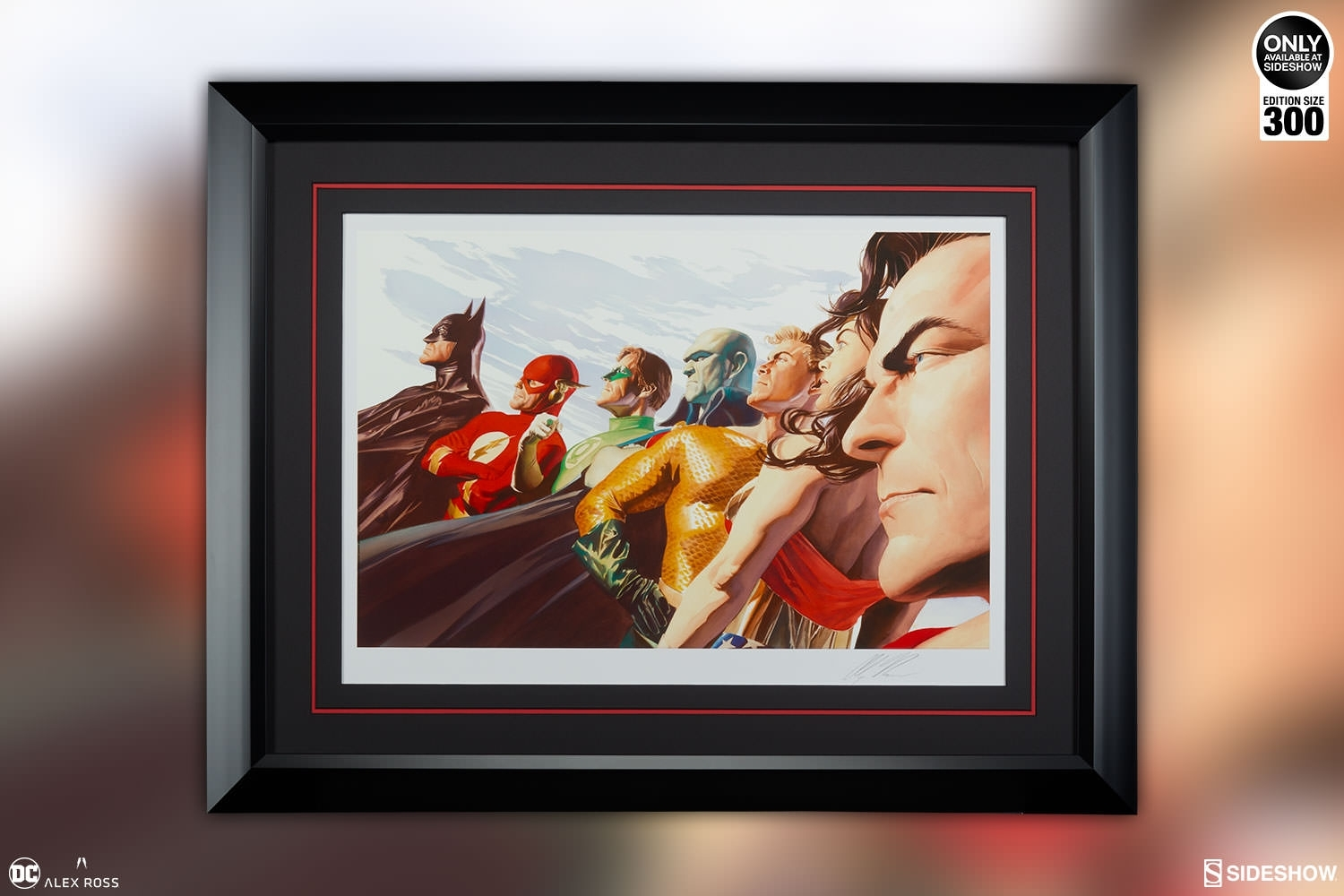 Dc Comics Liberty And Justice Jla Art Printalex Ross Art With 2018 Framed Comic Art Prints (View 8 of 15)