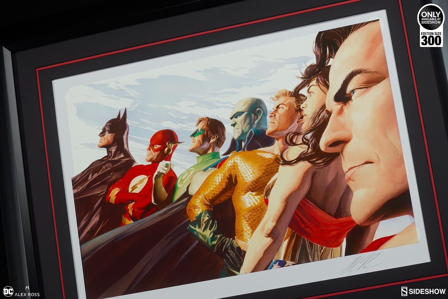 Dc Comics Liberty And Justice Jla Art Printalex Ross Art Within Most Recently Released Framed Comic Art Prints (View 11 of 15)