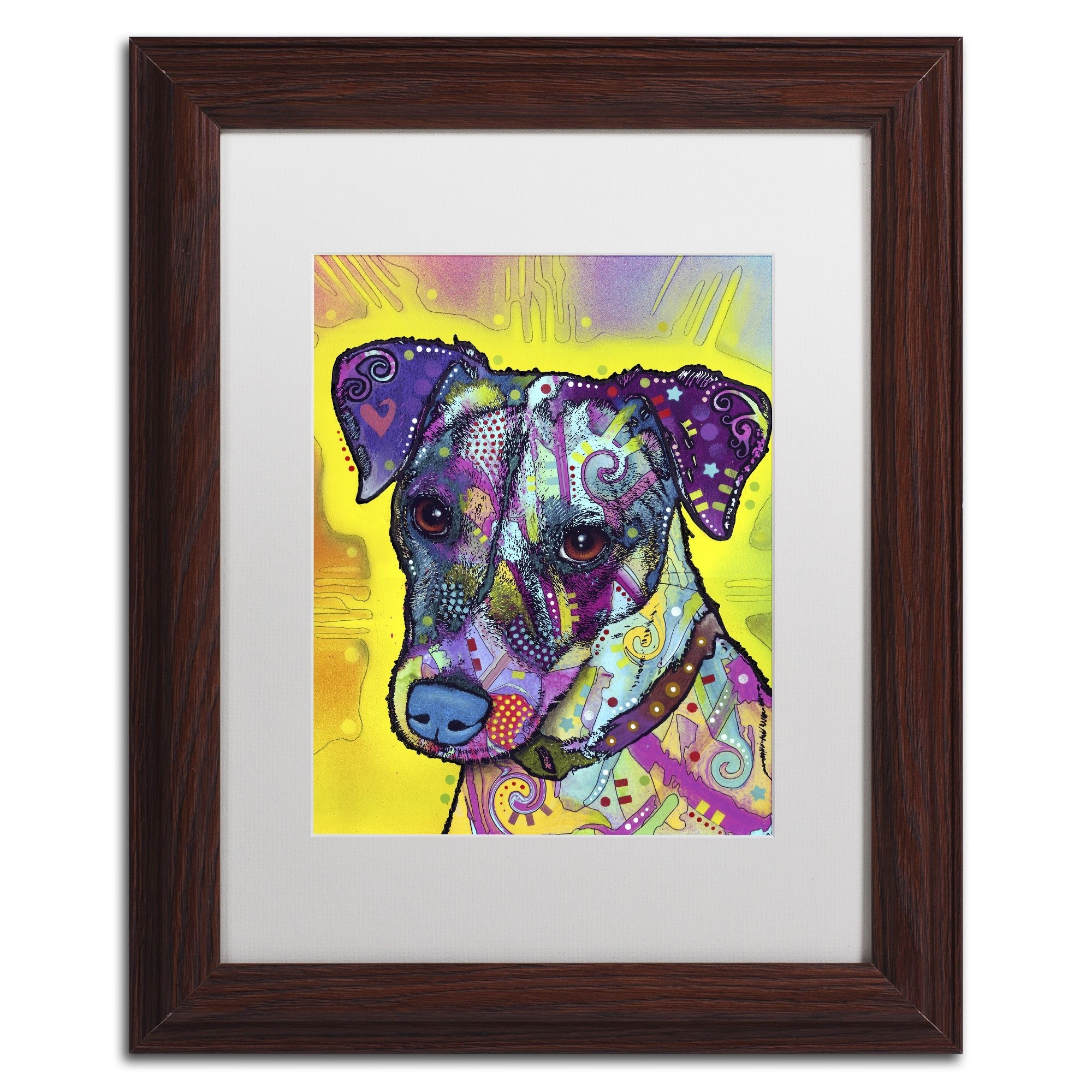 Dean Russo 'jack Russell' Matted Framed Art | Products | Pinterest with regard to Recent Dog Art Framed Prints