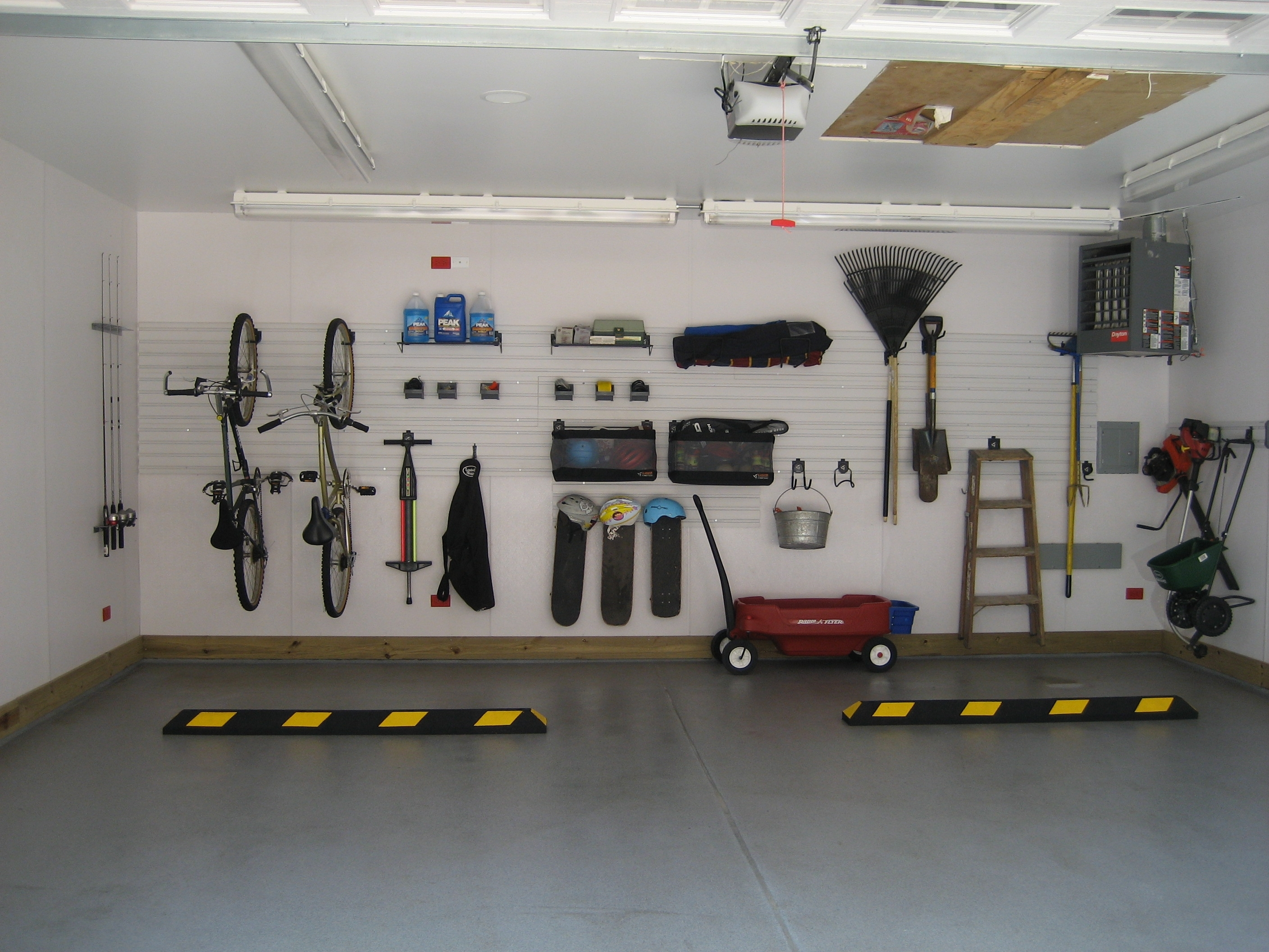 Decor: Interesting Garage Decor Ideas For Your Inspiration Intended For Best And Newest Garage Wall Accents (View 3 of 15)