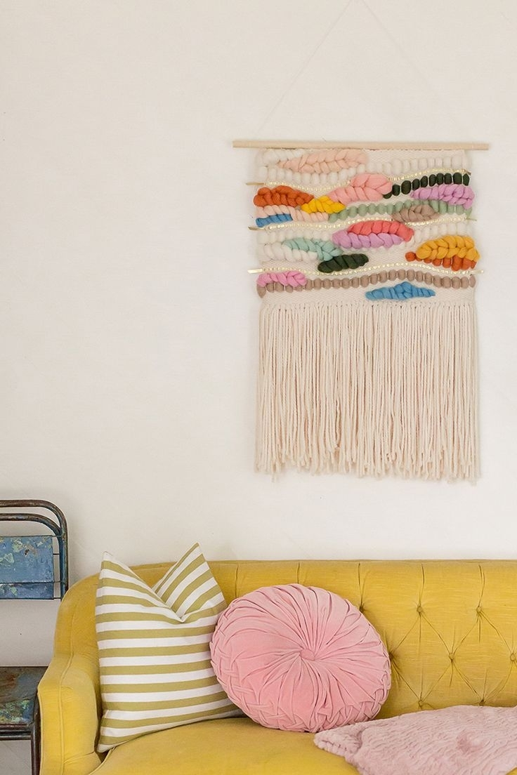 Decor : Wall Hanging Ideas Bright Ideas For Hanging Wall Sconces With Current Diy Textile Wall Art (View 7 of 15)