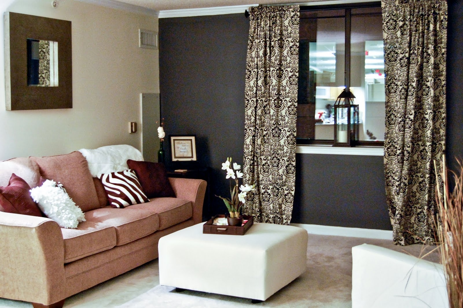 Decorating A Living Room With Dark Brown Walls | Gopelling Regarding Latest Brown Couch Wall Accents (View 6 of 15)