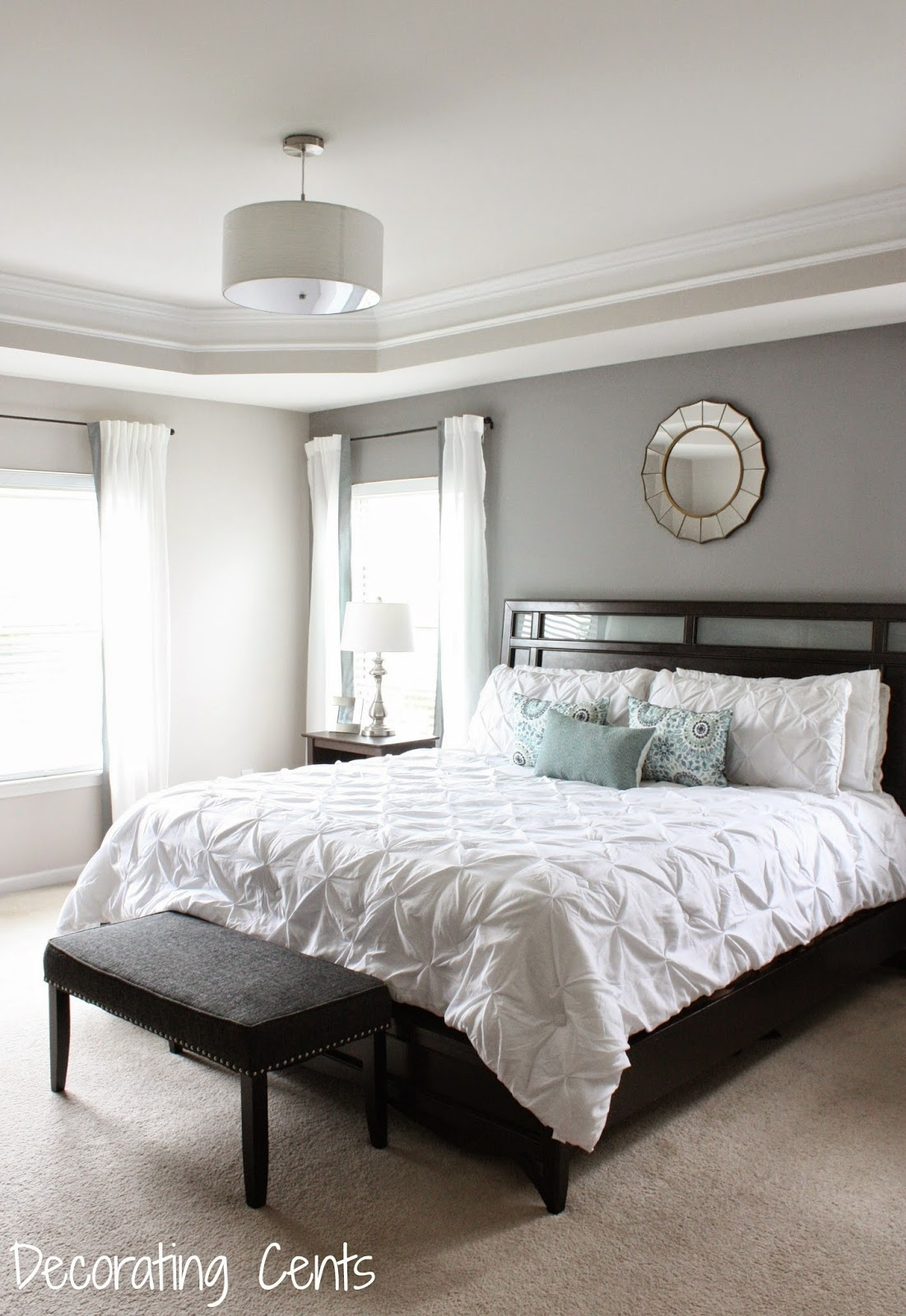 Decorating Cents: Gray Accent Wall Throughout Most Recent Wall Accents Behind Bed (Gallery 7 of 15)