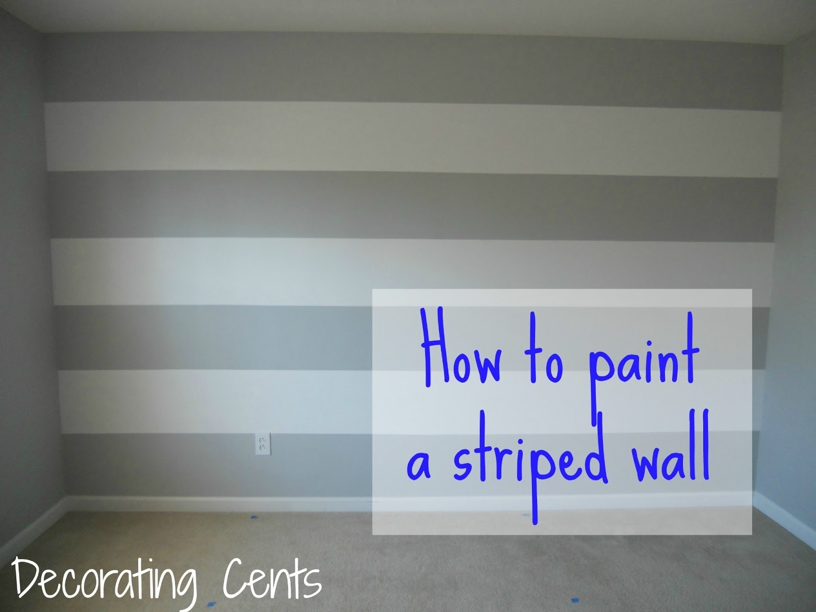 Decorating Cents: Painting A Striped Wall, Wall Painting Ideas Regarding Most Popular Vertical Stripes Wall Accents (View 6 of 15)