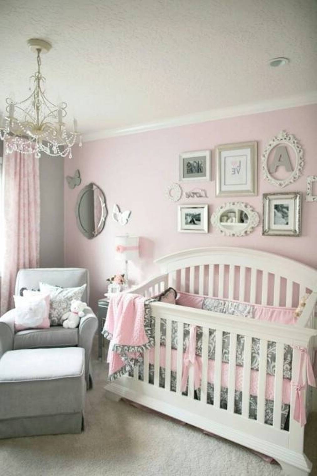 Decorating Ideas For Baby Girl Nursery – Wall Decor | Editeestrela With Most Popular Girl Nursery Wall Accents (Gallery 10 of 15)
