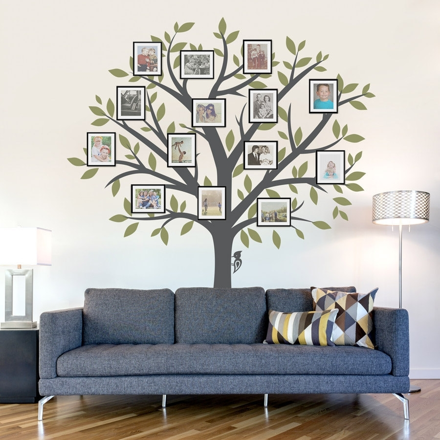 Decorating. Tree Wall Decals Design Inspiration. Kropyok Home throughout Current Fabric Tree Wall Art