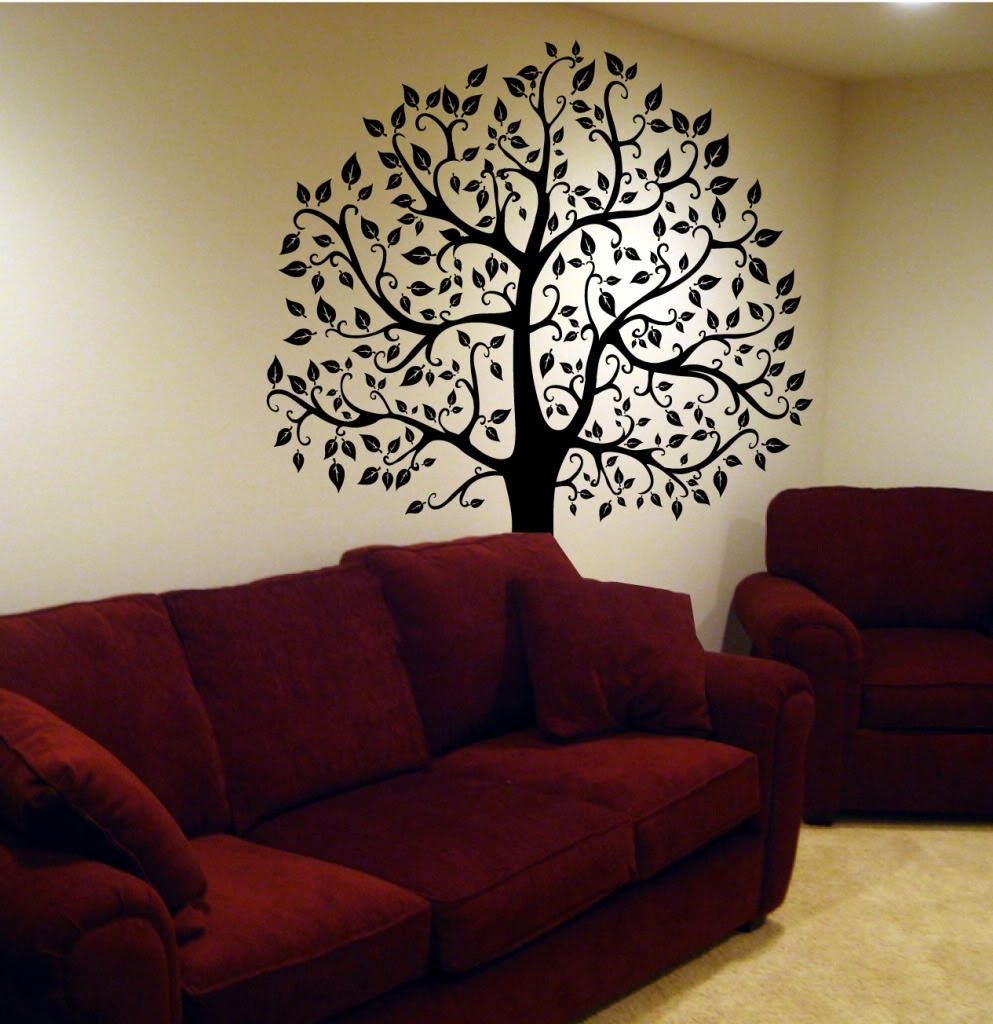 Decorating. Tree Wall Decals Design Inspiration. Kropyok Home Within 2018 Fabric Tree Wall Art (Gallery 11 of 15)