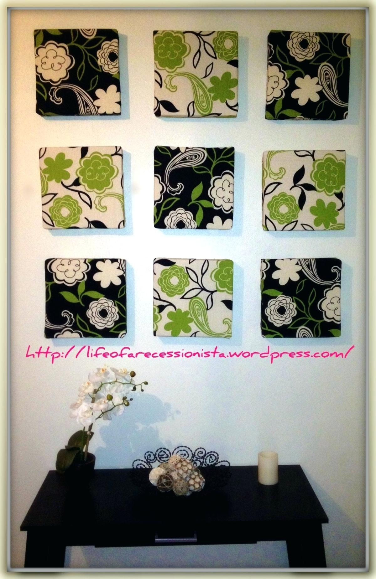 Decoration: Framed Fabric Wall Art Frame How Has Grown Over The For Most Popular Fabric Square Wall Art (View 2 of 15)