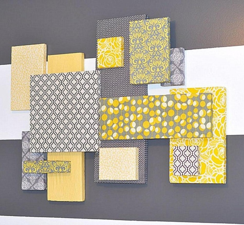Decoration Ideas: Top Notch Wall Decorating Design Ideas For for Newest Contemporary Fabric Wall Art
