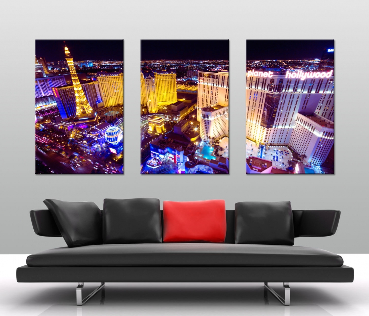 Decoration: Planet Hollywood Las Vegas Split Canvas In Admirable 3 Regarding 2018 Las Vegas Canvas Wall Art (Gallery 1 of 15)