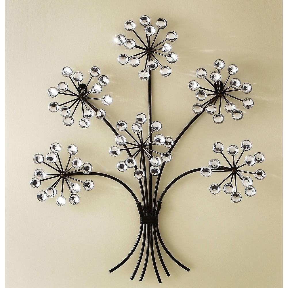 Decorations. Beautiful Bedroom Wall Decor 3D: Black Iron Wall throughout 2018 Flowers Wall Accents